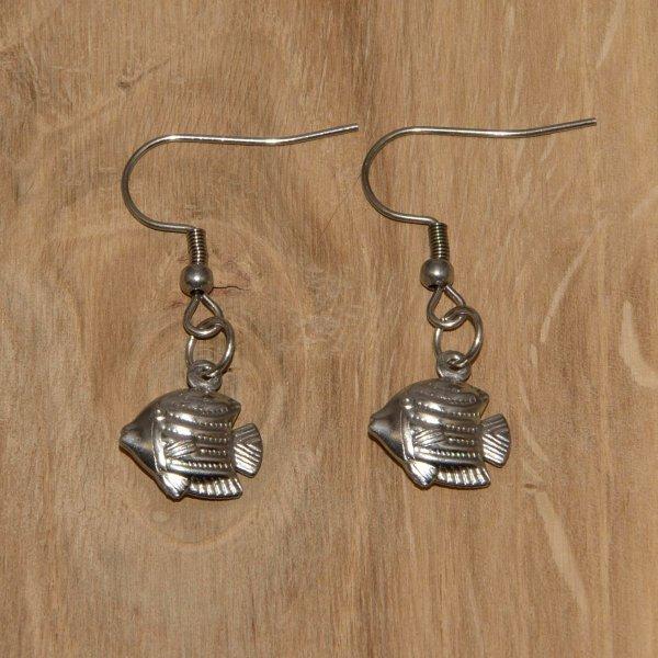 Ohrringe Edelstahl - Fisch-1