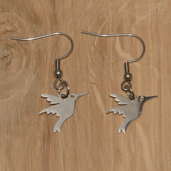 Ohrringe Edelstahl - Kolibri-1