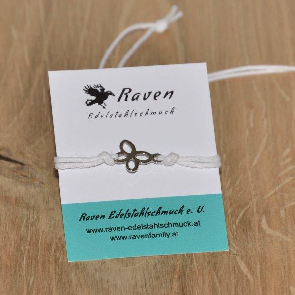 Textilarmband mit Schiebeverschluss - kleiner Schmetterling
