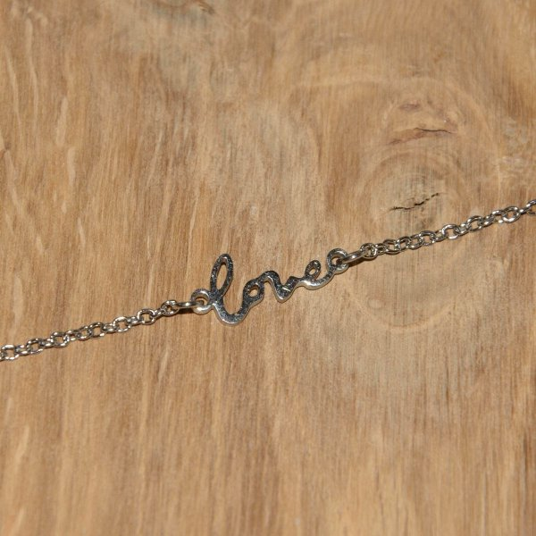 "Armband ""In Between"" Love, Ankerarmband 1,5 mm, Edelstahl"